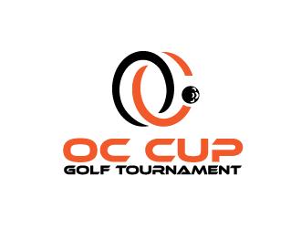 OC cup golf tournament logo design