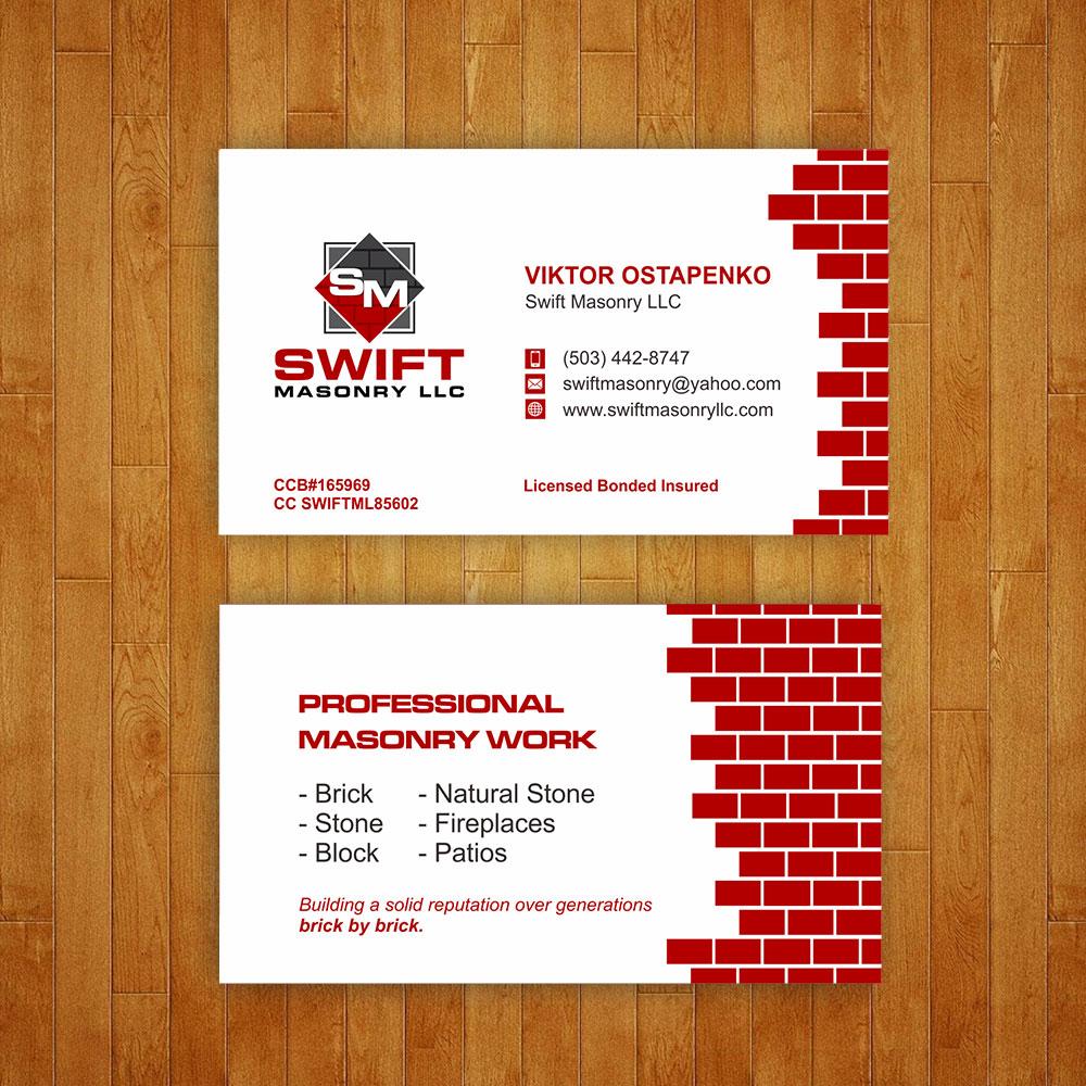 Swift Masonry LLC logo design