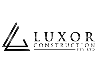 Luxor Construction  logo design