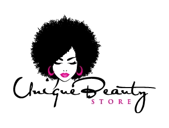 Unique Beauty Store logo design
