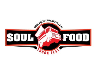 soul food truck fest logo design