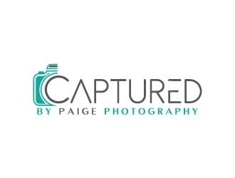 Captured by Paige  logo design