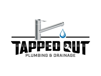 Tapped Out Plumbing & Drainage logo design