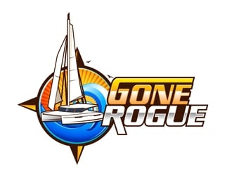 GONE ROGUE   (add, Capt. Ryan Zone, in small print maybe or maybe not?) logo design