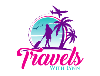 Travels With Lynn logo design