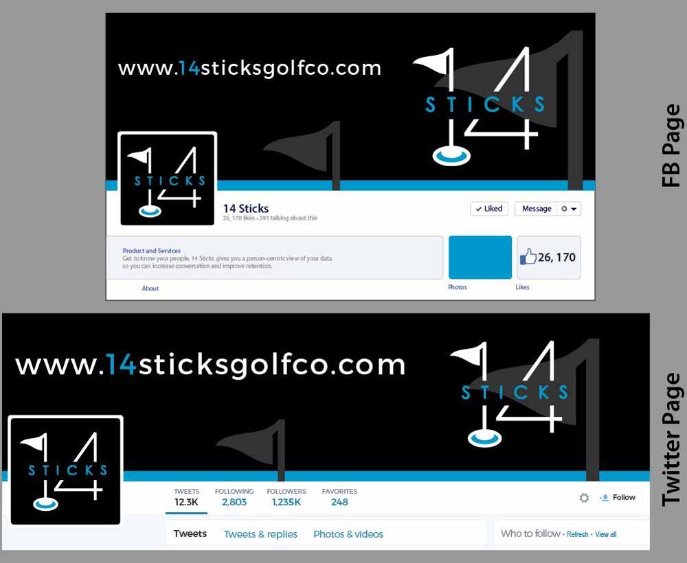 14 Sticks / 14 Sticks Golf Co logo design