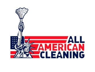 All American Cleaning logo design