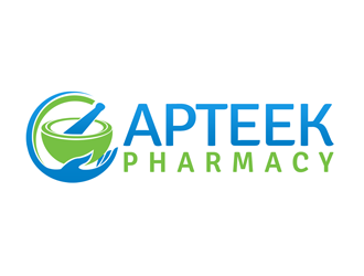 Apteek Pharmacy logo design