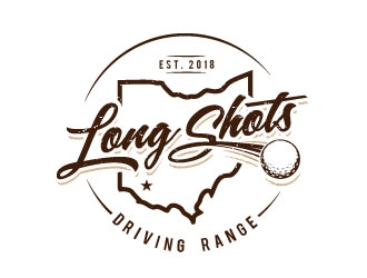 Long Shots Driving Range logo design