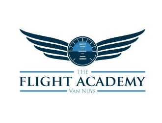 The flight academy logo design