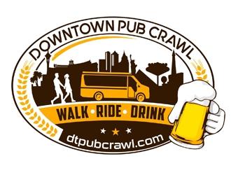 DOWNTOWN PUB CRAWL logo design