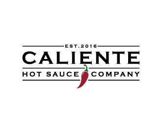 Caliente Hot Sauce Company logo design