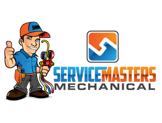 Service Masters Mechanical logo design