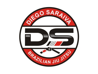 Diego Saraiva Brazilian Jiu Jitsu logo design