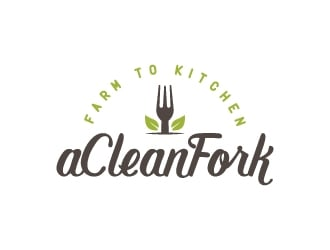 A Clean Fork logo design