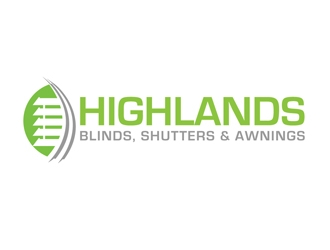Highlands Blinds, Shutters & Awnings  logo design