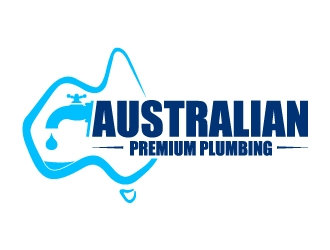 AUSTRALIAN PREMIUM PLUMBING logo design