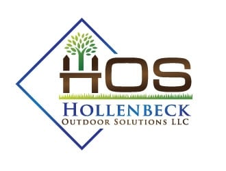 Hollenbeck Outdoor Solutions LLC  (also known as HOS) logo design