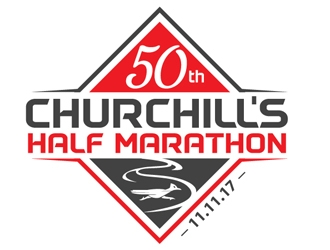Churchills Half Marathon logo design