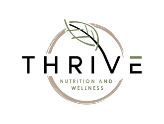 Thrive Nutrition and wellness logo design