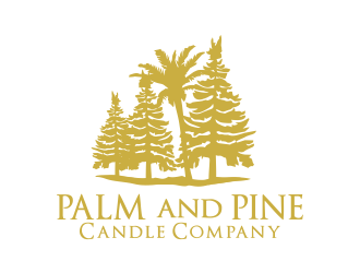 Palm and Pine Candle Company logo design