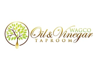 Wagco Oil & Vinegar Taproom logo design
