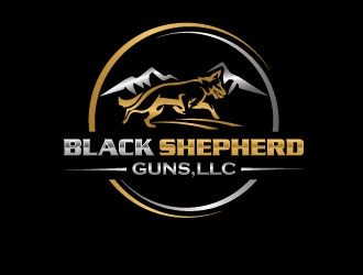 Black Shepherd Guns, LLC logo design