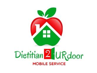 Dietitian2URdoor  Tag line: Mobile Service logo design