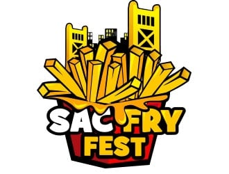 Sac Fry Fest logo design