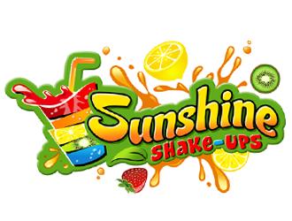 Sunshine shake-ups logo design