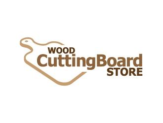 Wood Cutting Board Store logo design