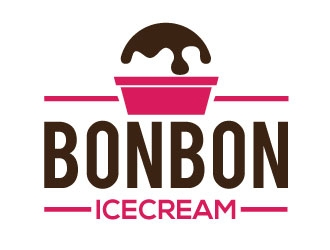 bonbon icecream logo design