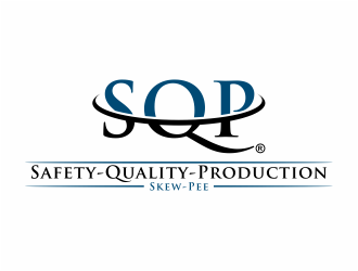 SQP (Safety-Quality-Production) Skew-Pee  logo design