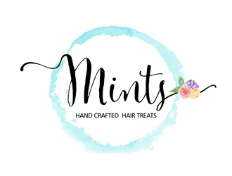 Mints (treats for your hair) logo design