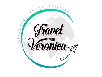 Travel with Veronica logo design