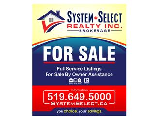System Select Realty logo design winner