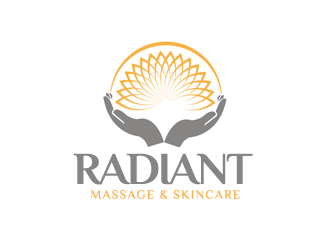 Radiant Massage & Skincare logo design