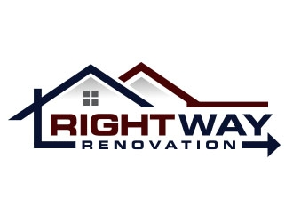 Right Way Renovation logo design