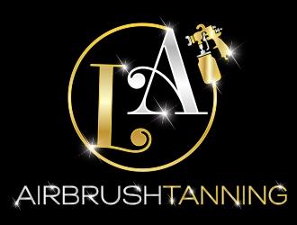 L.A Airbrushtanning logo design