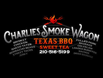 Charlies Smoke Wagon logo design