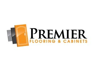 Premier Flooring & Cabinets logo design