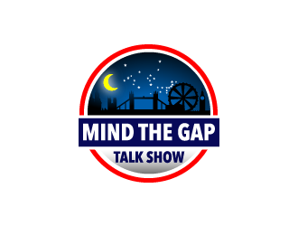 Mind The Gap Talk Show logo design