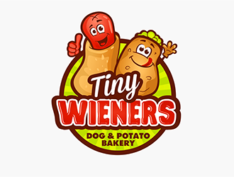 Tiny Wieners - Dog & Potato Bakery logo design