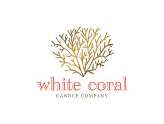 White Coral Candle Company logo design