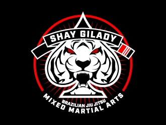 Shay Gilady brazilian jiu jitsu jitsu mixed martial arts logo design