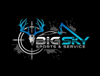 Big Sky Sports & Service logo design