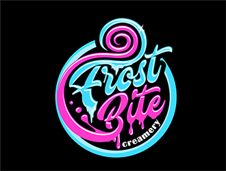 Frost bite creamery logo design