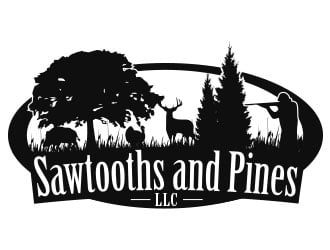 Sawtooths and Pines LLC logo design