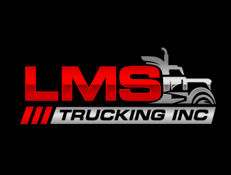 LMS Trucking logo design