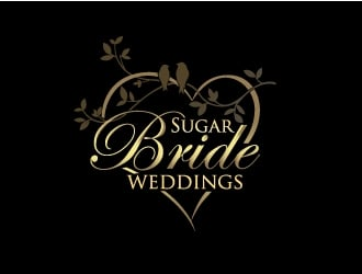 Sugar Bride Weddings logo design